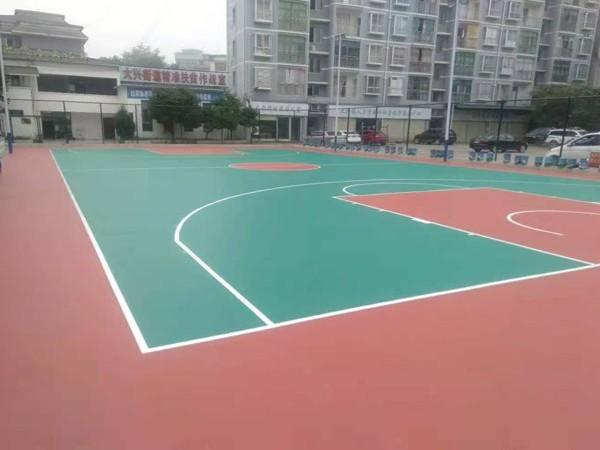 陕西铺设硅PU篮球场的标准造价