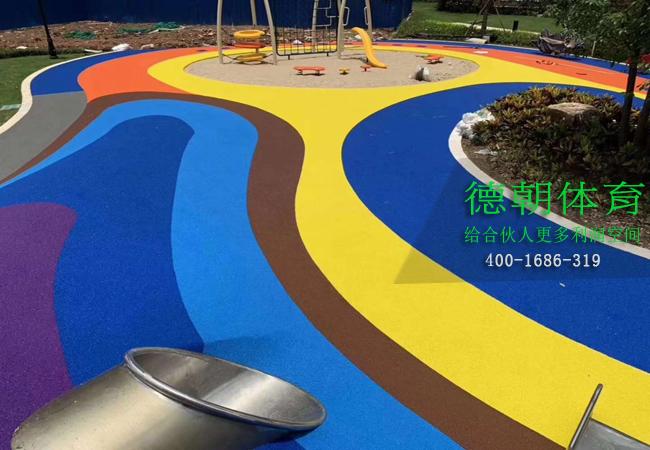 彩色EPDM塑胶跑道材料