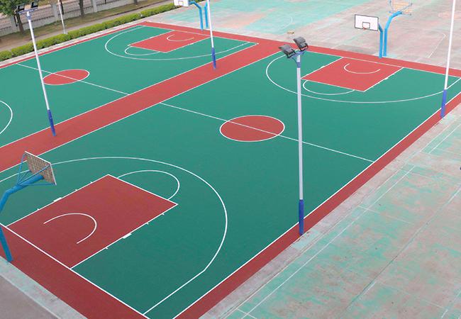 篮球场地面材料