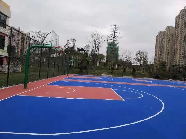 广东铺设硅PU篮球场的标准造价