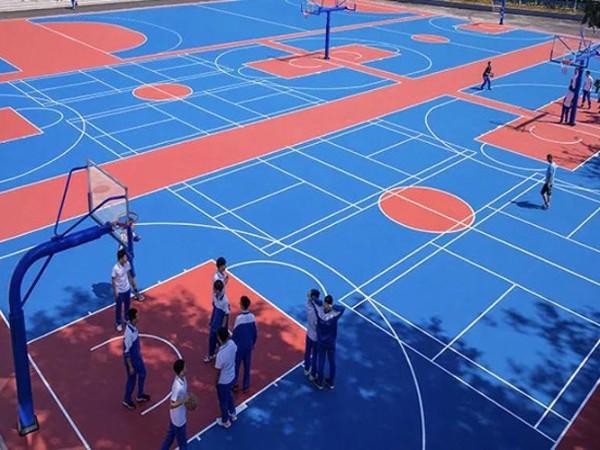 湖南铺设硅PU篮球场的标准造价