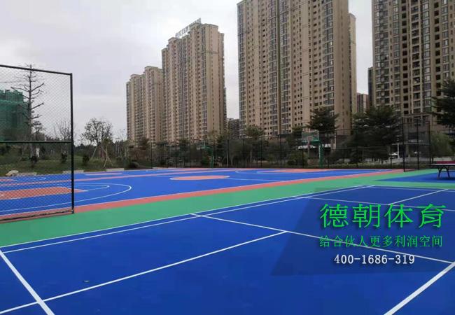 福建铺设硅PU篮球场的标准造价