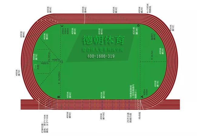 400米环形塑胶跑道