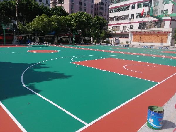山西铺设硅PU篮球场