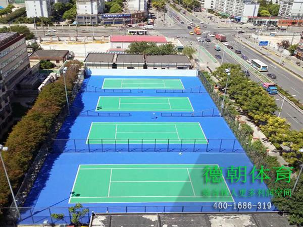 室外网球场地面