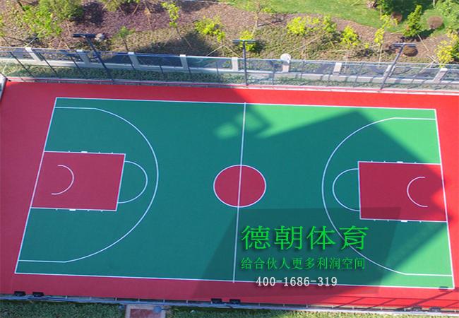 惠州硅PU篮球场建设