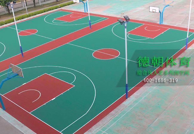 室外硅PU篮球场材料