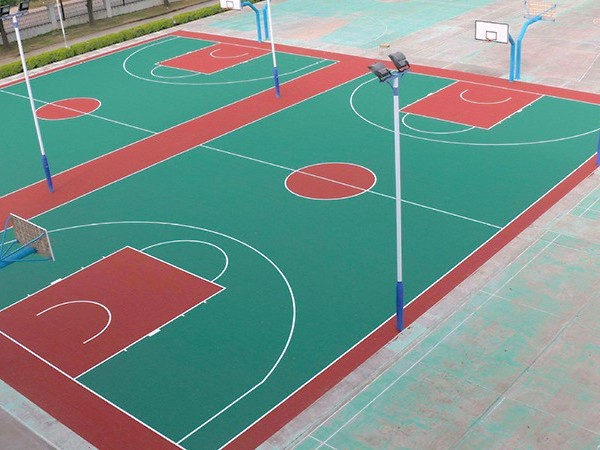 新国标硅PU篮球场