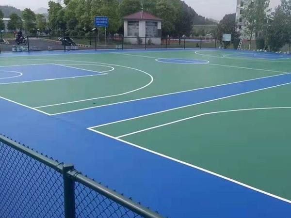 安徽铺设硅PU篮球场的标准造价