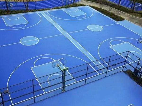甘肃铺设硅PU篮球场