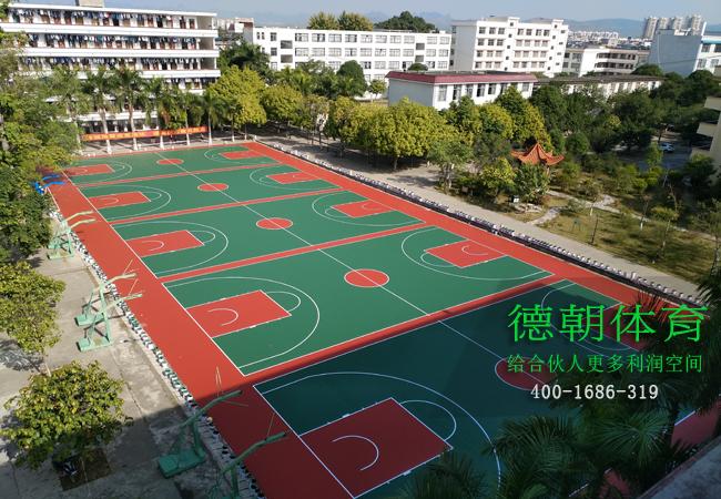 海南铺设硅PU篮球场的标准造价